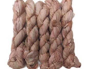 New! 50g Sari Silk Ribbon, 25-28 yards , color Seashell