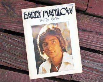 1976 Barry Manilow This One's For You, Vintage Music Book