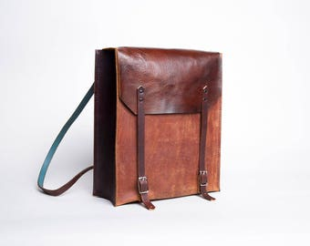 Leather Convertible Backpack & Tote | Rustic Brown