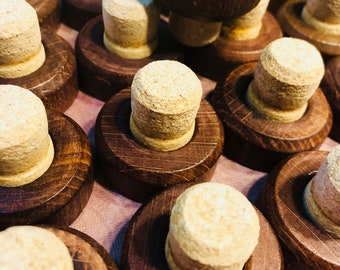 Wood top corks sauza tequila corks with wooden tops