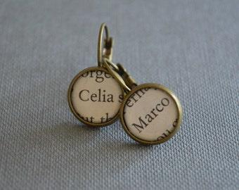 Celia and Marco The Night Circus Book Earrings