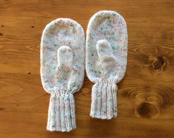 Hand Knit Mittens, teen