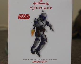 Star Wars Attack Of The Clones JANGO FETT Hallmark Hang A Memory