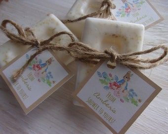 Baby Shower Favors Soap Peter Rabbit Baby Shower Soap Favors Organic Soap Baby Shower Favor Soap Baby Soap Favors Floral Soap Favor