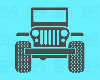 Jeep SVG | Silhouette Cut Files | Cricut Cut Files | Printable | DXF Files | Jeep SVG Files | png Clipart