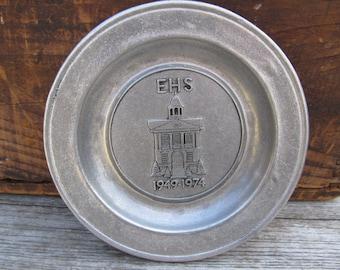 Vintage Wilton Columbia Pewter Plate - Commemorative Pewter Plate - 1970's Pewter Plate