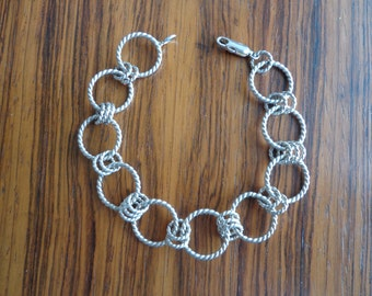 Bracelet anneau torsadé en Silver.925.