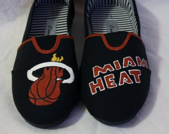 Miami Heat Hand Painted Shoes