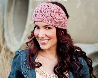 Emma Crochet Head Wrap, headband, ear warmer, crochet by allie