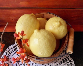 Six Imitation Lemons, Rubber Lemons
