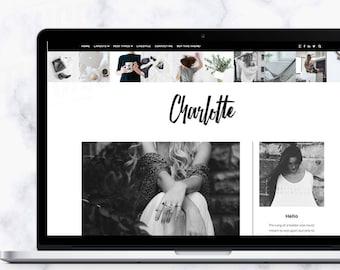 WordPress Theme - Charlotte   WordPress Theme - WordPress Template - WordPress Feminine Blog - WordPress Responsive - Fashion - Boho - Chic