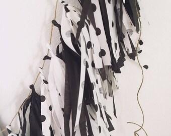 polka dot Tassle Garland- Tissue Paper garland-