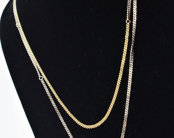Mixed Metal Silver and Gold Chain Necklace