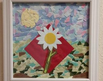 Wildflower Warrior Collage Wall Art