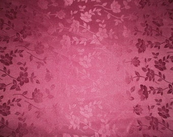 Maroon Dull Satin Jacquard Fabric