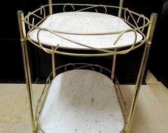 Mid Century Rolling Bar Cart