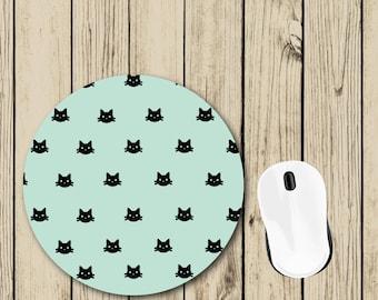 Cat Mousepad - Cat Lover Gift - Gift for Her - Cute Mousepad - Student Gift - College Dorm Decor - Teacher Appreciation Gift - Desk Decor