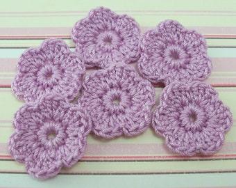 Crochet Violet Flower Appliques