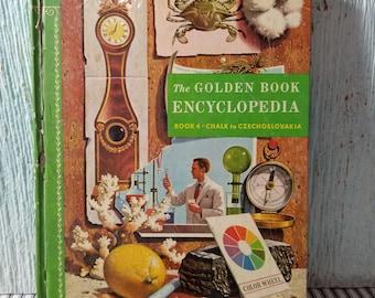 Golden Book, Vintage Childrens Book, Golden Book Encyclopedia, Golden Press, Copyright 1959, Volume 4, Chalk to Chzechoslovakia
