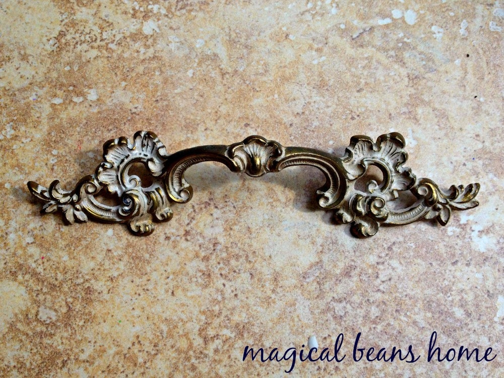 Vintage Drawer Pulls Brass Drawer Pulls French Provincial