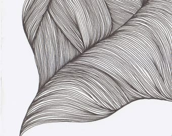 Original Artwork - Line Drawing - Waves #4