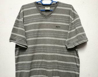 Vintage Piko Stripe Striped T-shirt