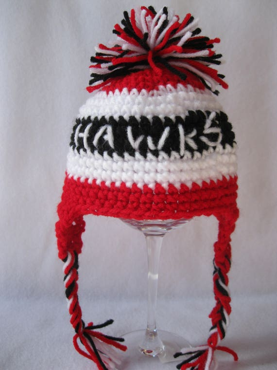 cheap for discount 7ea6a 045ae ... reduced chicago hockey blackhawks baby crochet hat photo prop baby  5d15d ba737