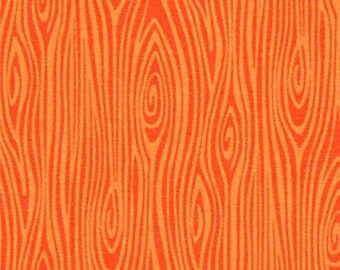 215834 orange Michael Miller fabric Just Wood Knot