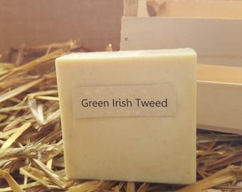 Green Irish Tweed Scented Homemade Goat Milk Soap