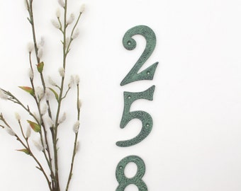 House Numbers, Address Numbers, Metal House Numbers, Rustic House Numbers, Rustic Home Decor, Copper House Numbers, Address Sign, Apartment