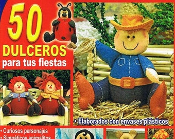 Sewing Cute Toy Felt Spanish eBook Pattern Craft Instant Download PDF Tutorial Pictures Sewing Pattern Toy Child Nice