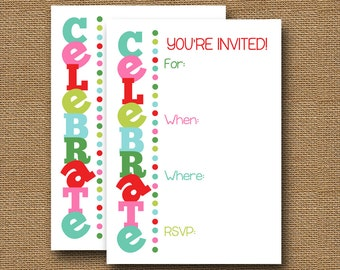 Christmas Party Invitation | Fill in the Blank Invitation | Write In Invite | Last Minute Holiday Invitation | Download Now | DIY PRINTABLE