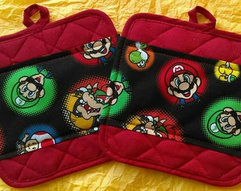 Nintendo Super Mario Brothers Pot Holders - Hot Pads