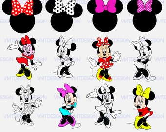 Minnie mouse svg - Minnie mouse head svg - Minnie mouse vector - Minnie mouse digital clipart ,file download svg, eps,jpg, png