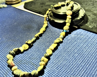 Antique Chinese Peking Glass Bead Necklace Unearthed #1 (50pcs.)