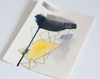 Small Abstract Drawing With Triangles