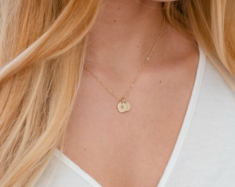 Custom Initial Necklace, Mothers Necklace with Dainty Custom Disc Personalization,Family, Kids Multi-Tag Initial Disk Necklace,