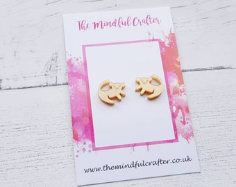 Lion king earrings lion king stud earrings gold simba stud earrings Rafiki lion king drawing inspired jewellery accessory Disney jewellery