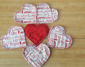 VALENTINE'S DAY HEARTS 4 U 6 mini coasters