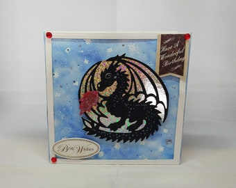 Male/Female/Girl/Boy - Dragon/Fantasy Birthday Card - luxury quality bespoke UK -Mum/Grandma/Daughter/Aunt/Niece/Sister