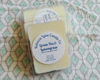 Green Tea & Lemongrass - Soy Wax Melts