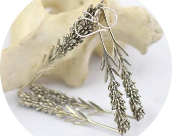 Lavender Earrings (White & Yellow Brass)