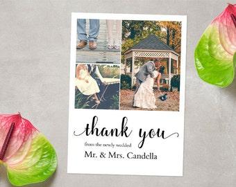 CUSTOM Photo Thank You Card, Wedding Thank You Card, Printable Thank You Card, Thank You Card, Thank You Postcard, DIGITAL FILE 5x7