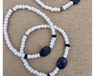 Lapis Lazuli beaded bracelets