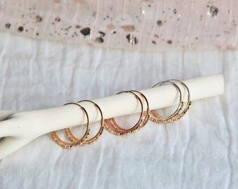 Faceted Karen plated tribal hoop earrings yellow and rose gold, silver, women gift, earrings, fine jewelry by Myo jewel