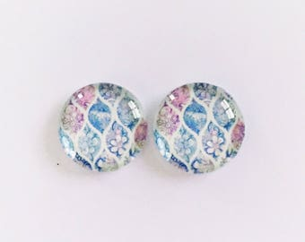 The 'Tigerlily' Glass Earring Studs