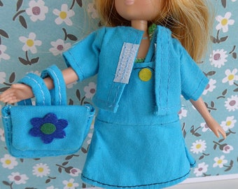 4 PIECE LOTTIE OUTFIT - vintage dress, jacket, t shirt, back pack in turqoise