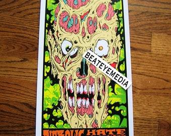 Alan Forbes,CONCERT POSTER,Cannibal Corpse,Heavy Metal,Thrash,Comic Art,PUNK,Punk Rock,Zombie,horror,monster,monsters,Comic,Tattoo,Tattoos