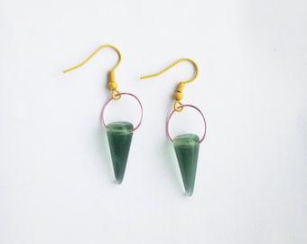 glass . spike . earrings
