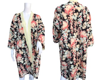 SOLD! 1930s Cotton Robe with Japoniste Print